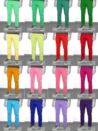 calça colorida