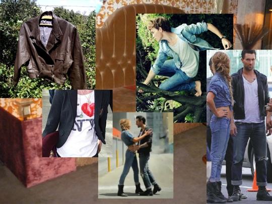 jeans com couro