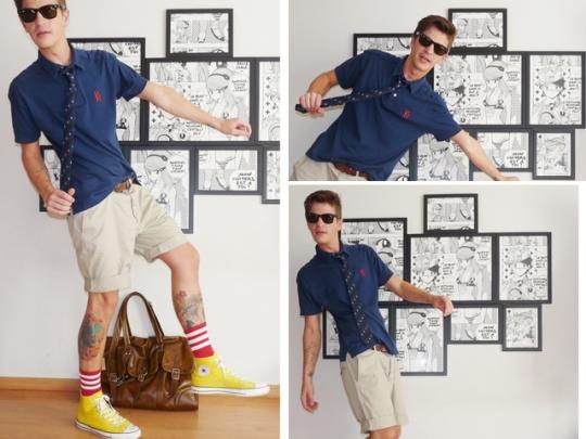 shorts alfaiataria HM